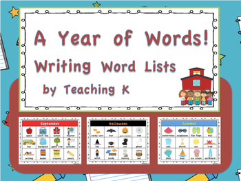 Work on Writing Activities for the Whole Year Kindergarten 1st Grade