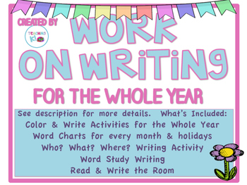 Work on Writing Activities for the Whole Year Kindergarten