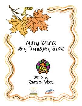 Writing Activities using Thanksgiving Snacks