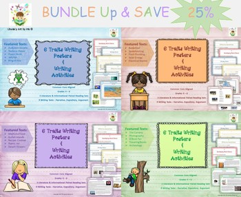 Writing Activities with 6 Traits Poster BUNDLE!