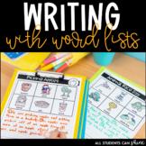 Writing Activities with Vocabulary Words | Kindergarten & Grade 1