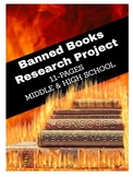 Writing Activity - Banned Books Research Project Distance