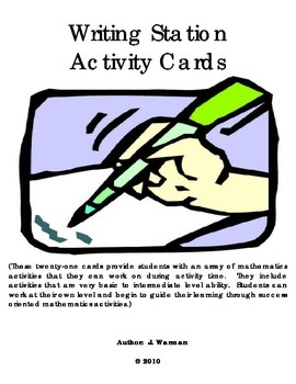 Writing Activity Cards