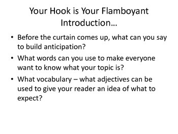 Writing Activity: Hooks/ Grabbing Your Reader's Attention!