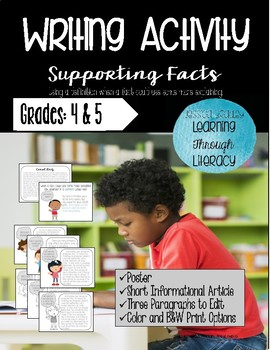 Writing Activity (Informational) - Support Your Facts - Definition