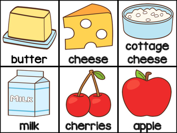 Writing Activity: List of Ingredients (English)