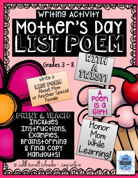 Writing Activity: Mother's Day List Poem