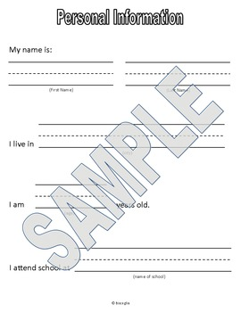 Writing Activity - Personal Information