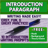 Introduction Paragraph Prompts Free World History