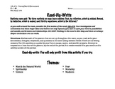 """Close Reading- Writing Activity: """"Read-Dig-Write"""" (Life of"""