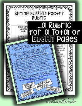 Distance Learning Writing Activity: Spring Sound Poetry FREEBIE