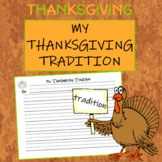 Writing Activity What is your family's Thanksgiving Tradition