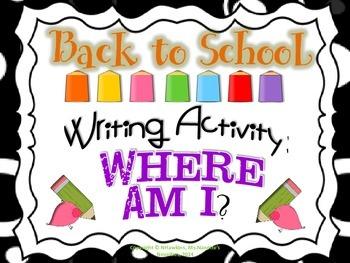 Writing Activity: Where Am I?