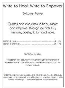 Writing Prompt Workbook to Inspire & Empower