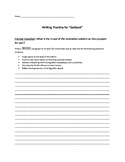 "Writing Activity for ""Gallipoli"": Preparations for War"
