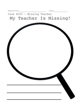 Writing Activity for Substitute Teachers