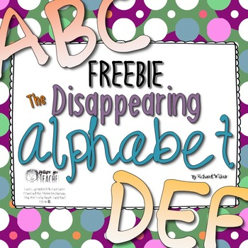 Writing Activity for The Disappearing Alphabet by Richard Wilbur