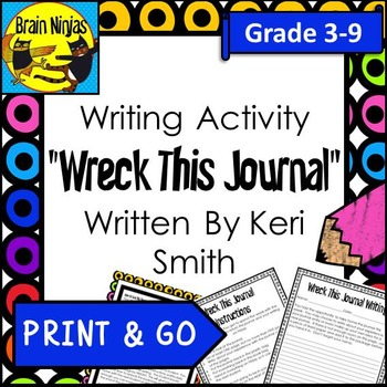 Wreck This Journal Writing Activity