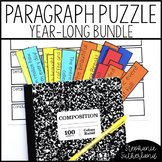 Paragraph Writing BUNDLE: Paragraph Puzzles for the Year