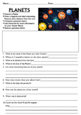 Writing Activity on Planets