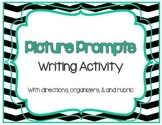 Writing Activity or Literacy Center: Picture Prompts w/ rubric, planner