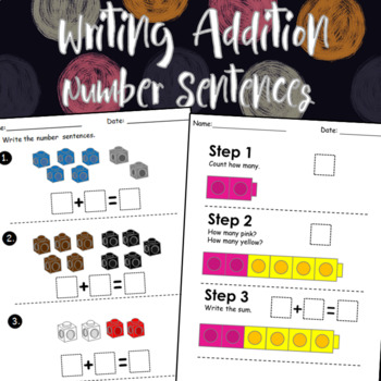 Writing Addition Number Sentences