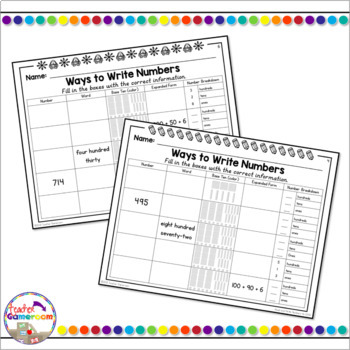 Place Value - Ways to Write Numbers - 2.NBT.3