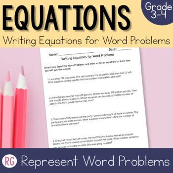 Writing Addition and Subtraction Equations