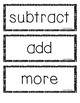 Writing Addition and Subtraction Stories: A Template for Students
