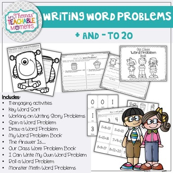 Writing Addition and Subtraction Word Problems Up to 20