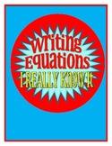 Writing Algebraic Equations from Verbal Equations