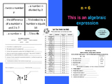 Writing Algebraic Expressions Common Core Bundle