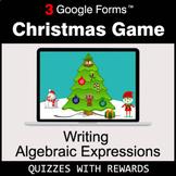 Writing Algebraic Expressions   Christmas Decoration Game