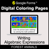 Writing Algebraic Expressions - Digital Coloring Pages   Google Forms
