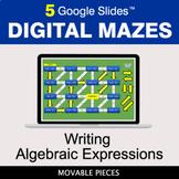 Writing Algebraic Expressions | Digital Mazes Distance Lea