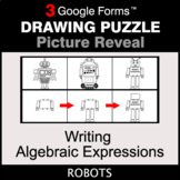 Writing Algebraic Expressions - Drawing Puzzle   Google Forms