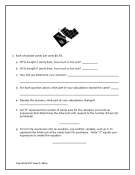 Writing Algebraic Expressions & Equations for 1-Step Word Problems with Prompts