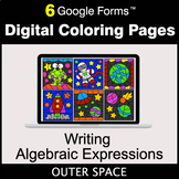 Writing Algebraic Expressions - Google Forms   Digital Coloring Pages