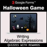 Writing Algebraic Expressions | Halloween Decoration Game