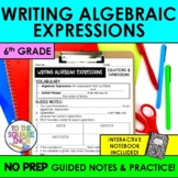 Writing Algebraic Expressions Notes
