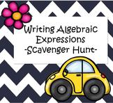 Writing Algebraic Expressions - Scavenger Hunt