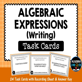 Writing Algebraic Expressions