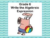 Writing Algebraic Expressions Task Cards -Beach Fun