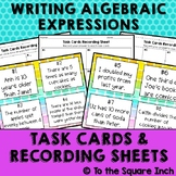 Writing Algebraic Expressions Task Cards