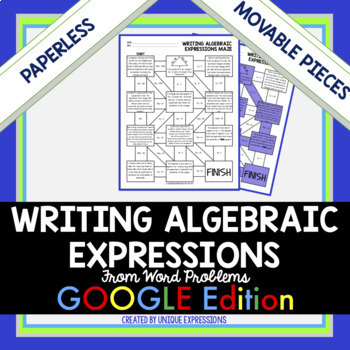 Writing Algebraic Expressions Word Problems Worksheets