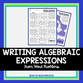 Writing Algebraic Expressions from Word Problems Maze