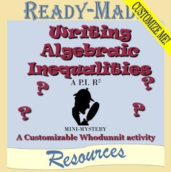 Writing Algebraic Inequalities Mystery Activity (Scavenger Hunt)