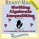 Writing Algebraic Inequalities Mystery Activity (CUSTOMIZA