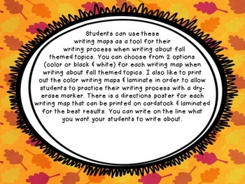 All About Fall Writing Maps