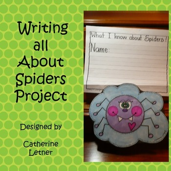 Spiders Writing Craft Project